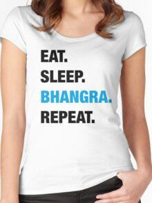 Eat. Sleep. Bhangra. Repeat. Women's Fitted Scoop T-Shirt
