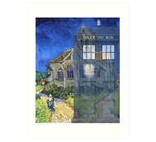 Dr., Van Gogh and the Church at Auvers Art Print
