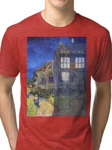 Dr., Van Gogh and the Church at Auvers Tri-blend T-Shirt