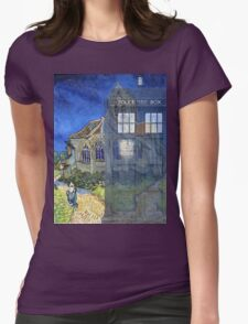 Dr., Van Gogh and the Church at Auvers Womens Fitted T-Shirt