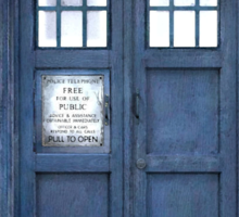 Tardis Blue - The Police Box Sticker