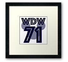 wdw jersey Framed Print