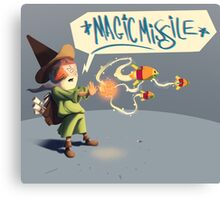 "The wizard casts ""Magic Missile"" Canvas Print"
