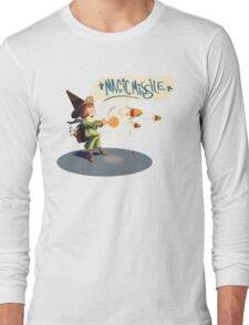 """The wizard casts """"Magic Missile"""" Long Sleeve T-Shirt"""
