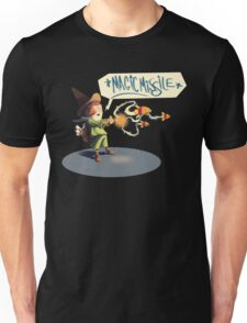 "The wizard casts ""Magic Missile"" Unisex T-Shirt"
