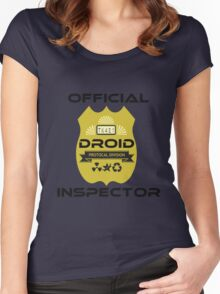 Official Droid Inspector Women's Fitted Scoop T-Shirt
