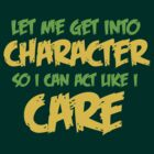 Get Into Character - Green & Gold by BlueEyedDevil