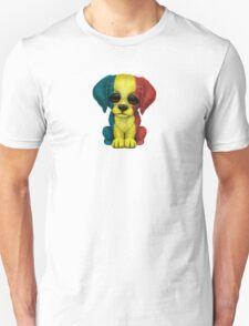 Cute Patriotic Romanian Flag Puppy Dog Unisex T-Shirt