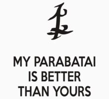 My Parabatai is better than yours (BLACK) Kids Clothes