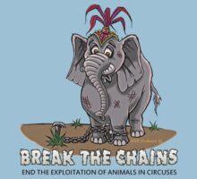 CIRCUS ANIMALS- BREAK THE CHAINS! Baby Tee