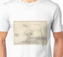 Vintage Map of Margarita Province (1850) Unisex T-Shirt