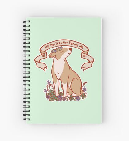 Inspirational Bull Terrier Spiral Notebook