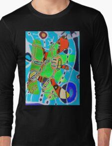 Surf and kite surf beach Juan design  Long Sleeve T-Shirt