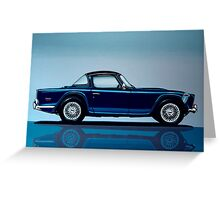 Triumph TR5 Painting Greeting Card