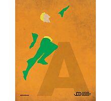 Aquaman - Superhero Minimalist Alphabet Print Art Photographic Print
