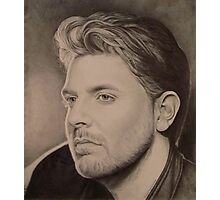 Chris Young in Pencil Photographic Print