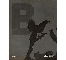 Batman - Superhero Minimalist Alphabet Print Art Photographic Print