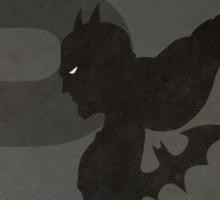 Batman - Superhero Minimalist Alphabet Print Art Sticker