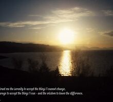 Midnight Sun (Serenity Prayer) by JoAndCoCards