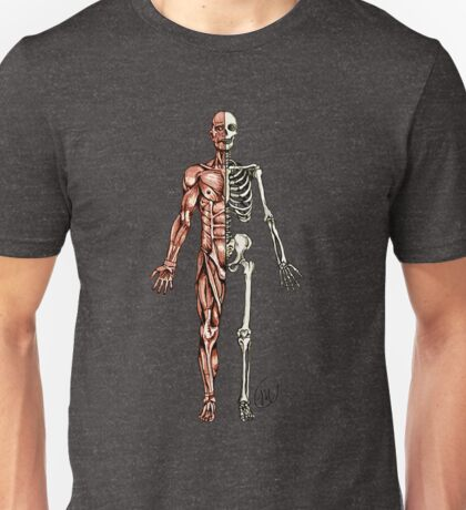 Half Muscle - Half Skeleton Unisex T-Shirt