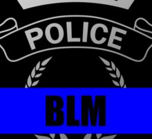 Blue Lives Matter Police Badge Sticker