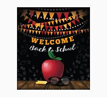 Welcome Back to school bunting and blackboard design. Unisex T-Shirt