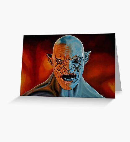 Azog The Orc Painting Greeting Card