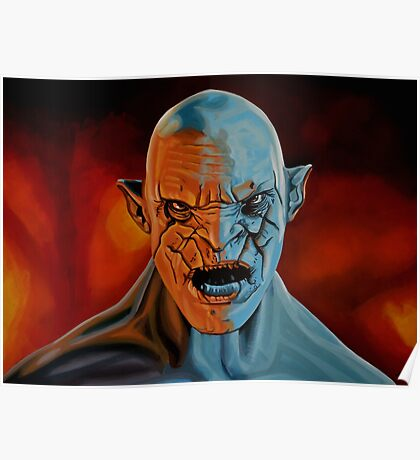 Azog The Orc Painting Poster