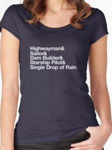 Helvetica Highwayman Women's Fitted Scoop T-Shirt