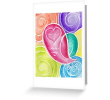 Hypnotic Heart Owl Greeting Card