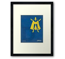 Doctor Fate - Superhero Minimalist Alphabet Print Art Framed Print