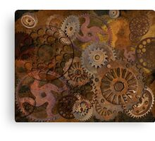 Changing Gear - Steampunk Gears & Cogs Canvas Print