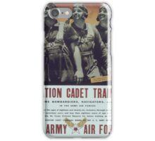 Vintage poster - Aviation Cadet Training iPhone Case/Skin