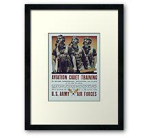Vintage poster - Aviation Cadet Training Framed Print