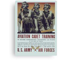 Vintage poster - Aviation Cadet Training Canvas Print