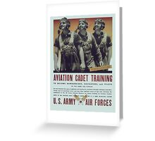 Vintage poster - Aviation Cadet Training Greeting Card