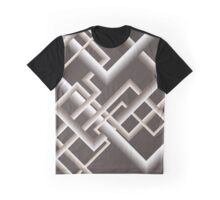 Monochromatic Brown Linework Graphic T-Shirt