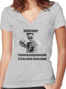 Informer 90s Rap Retro Vintage Shirt Women's Fitted V-Neck T-Shirt