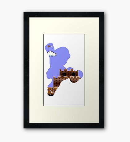 Mario Jump Retro  Framed Print