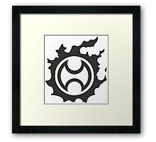 Final Fantasy 14 logo WAR Framed Print