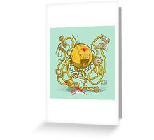 Wrecker The Robot Greeting Card