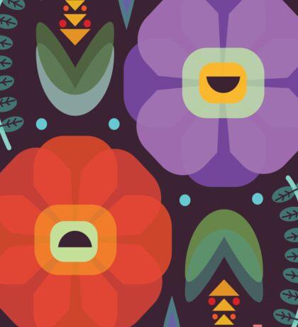 Flowerfully Folk Sticker
