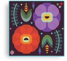 Flowerfully Folk Canvas Print