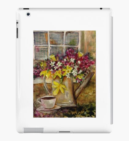 Tee at the window iPad Case/Skin