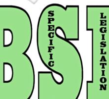 EUTHANIZE B.S.L NOT INNOCENT DOGS Sticker