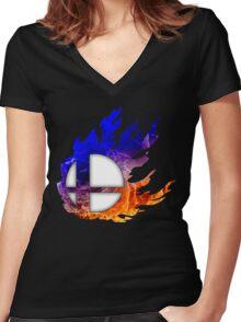Smash Bros Ball Women's Fitted V-Neck T-Shirt