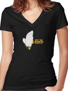 May the Quartz be with you Women's Fitted V-Neck T-Shirt