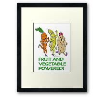 FRUIT AND VEGETABLE POWERED ATHLETE Framed Print
