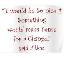 Making Sense For A Change Poster