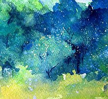 Trees Series - Trees in the Orchard  2 by Heather Holland by Heatherian